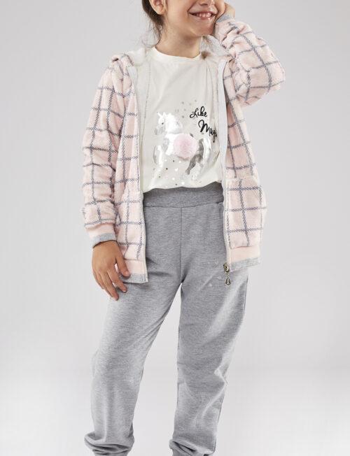 EBITA Σετ Ζακέτα-Μπλούζα-Φόρμα Ροζ