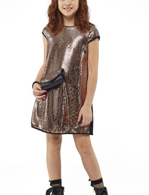 EBITA Φόρεμα Μεταλιζέ με Τσαντάκι