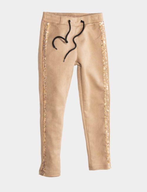 NEW COLLEGE Παντελόνι με τρέσσα χρυσή