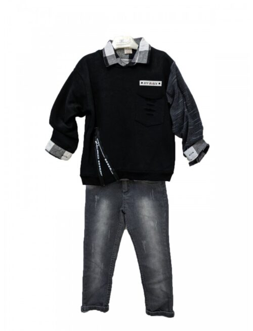 RESTART Μπλούζα, Πουκάμισο και Παντελόνι με τιράντες