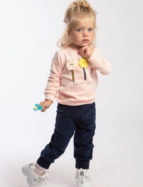 TRAX Σετ μπλε παντελόνι με ροζ μπλούζα