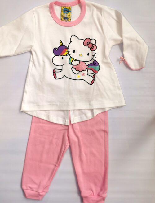 LIKE Πυτζάμα Hello Kitty with Unicorn