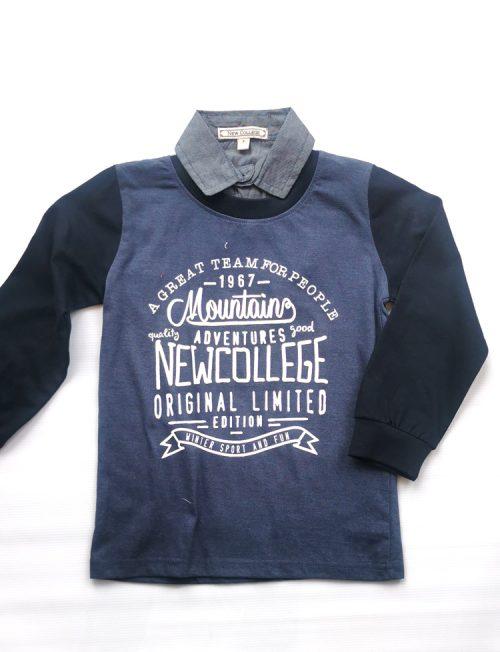 NEW COLLEGE Μπλουζoπουκάμισο