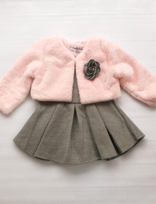 Φόρεμα και Γουνάκι Ροζ