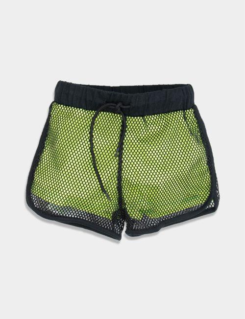NEW COLLEGE Σορτς Λάιμ με δίχτυ