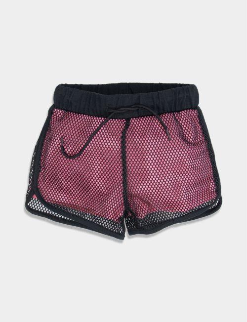 NEW COLLEGE Σορτς Ροζ με δίχτυ