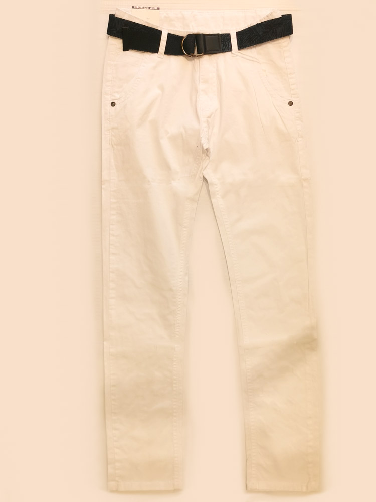 Παντελόνι Λευκό με Ζώνη