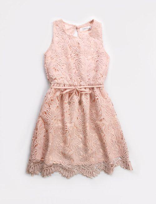 Φόρεμα Δαντέλα με Ζωνάκι