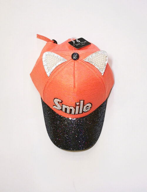 Καπέλο Παιδικό Smile Αυτάκια Στρας