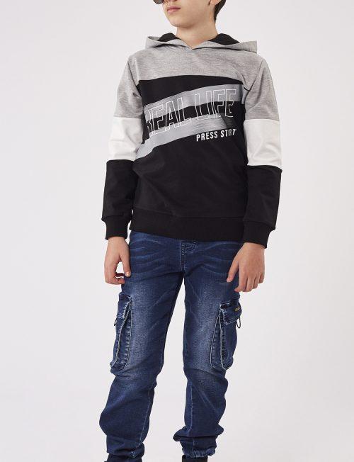 HASHTAG Μπλούζα με Κουκούλα