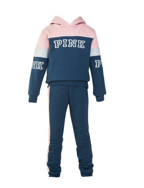 RESTART Φόρμα Μπλούζα Pink και Παντελόνι